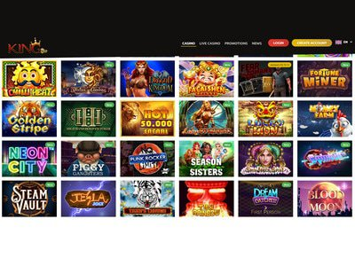 Kingbit Casino logiciel captures d