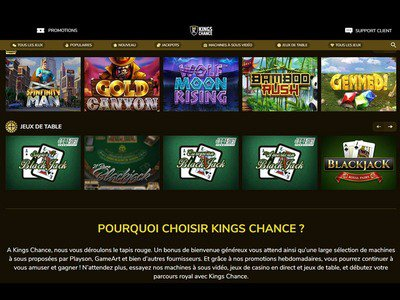 Kings Chance Casino logiciel captures d