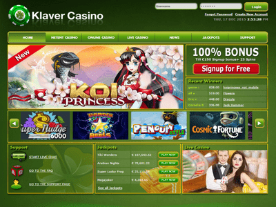 Klaver Casino site captures d
