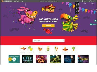La Fiesta Casino site captures d