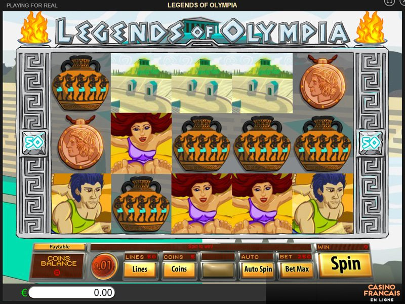 jeux Legends Of Olympia