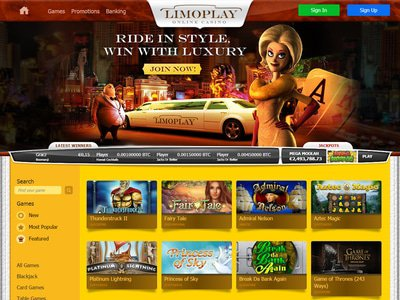 LimoPlay Casino site captures d