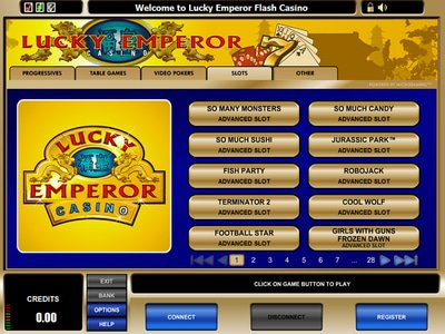 Lucky Emperor Casino logiciel captures d