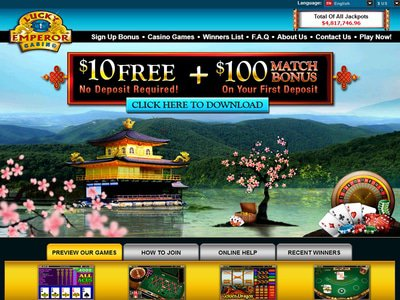 Lucky Emperor Casino site captures d