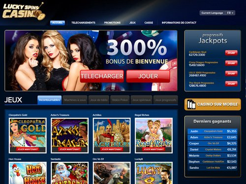 Lucky Spins Casino site captures d