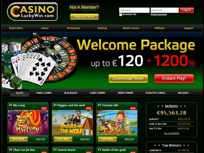 LuckyWin Casino site captures d