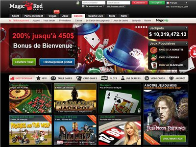 Magic Red Casino site captures d