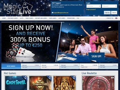 Magic Star Live Casino site captures d