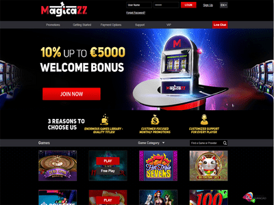 Magicazz Casino site captures d