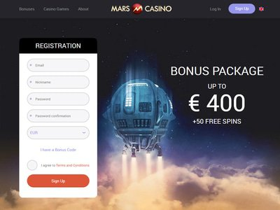 Mars Casino site captures d