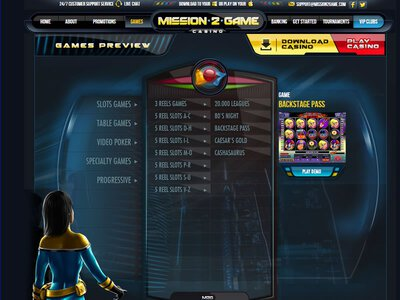 Mission 2 Game Casino logiciel captures d
