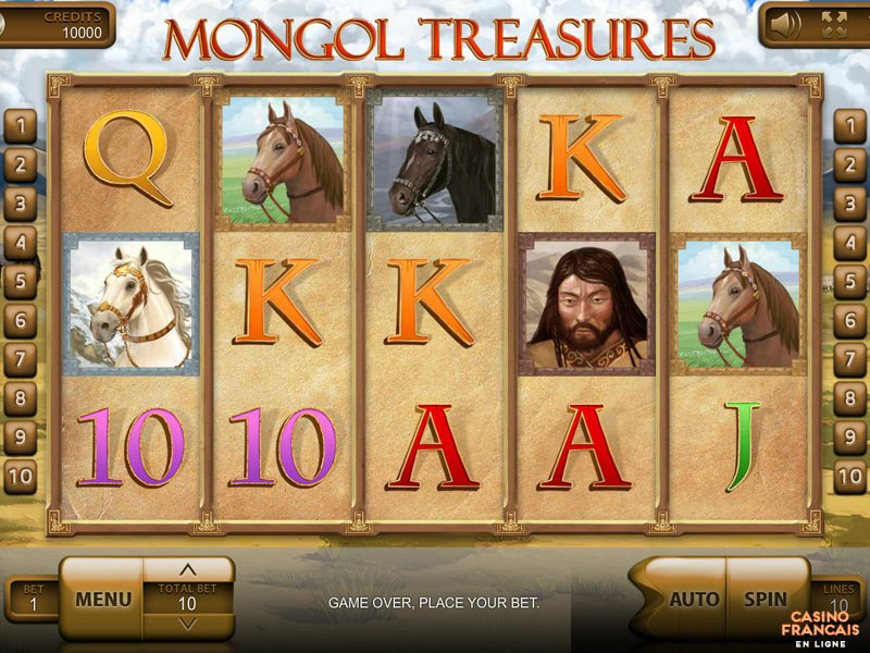 jeux Mongol Treasures