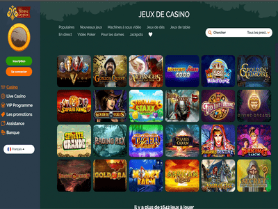 Monte Cryptos Casino logiciel captures d