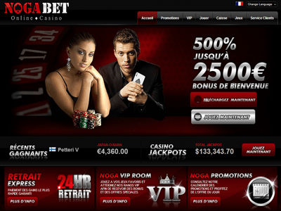 NogaBet Casino site captures d