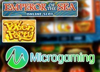 Nouveaux jeux Pollen Party et Emperor of the Sea de Microgaming
