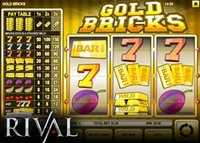 Nouvelle machine à sous Gold Bricks de Rival déjà disponible