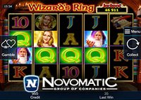 Novomatic annonce sa nouvelle machine à sous Wizard's Ring