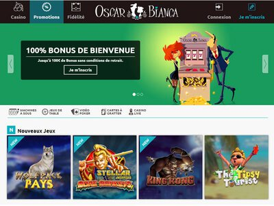Oscar Bianca Casino site captures d