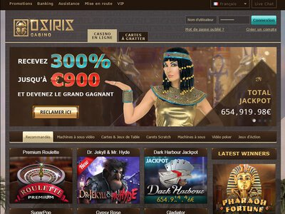 Osiris Casino site captures d