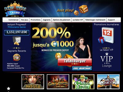 Paris Vegas Casino site captures d