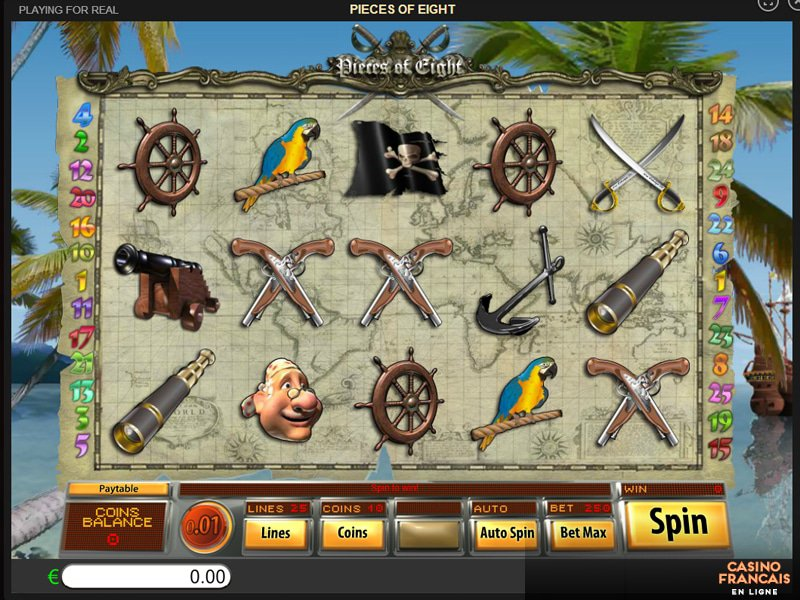 jeux Pieces Of Eight
