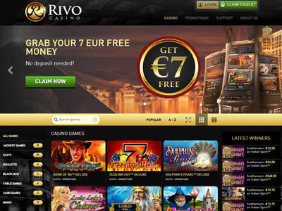 Rivo Casino site captures d