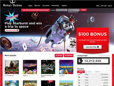 Royal Panda Casino site captures d