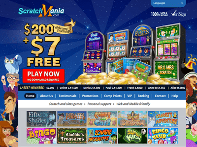 Scratch Mania Casino site captures d