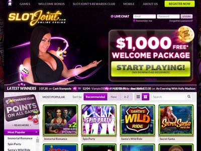 Slot Joint Casino site captures d