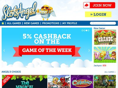 Slots Angel Casino site captures d