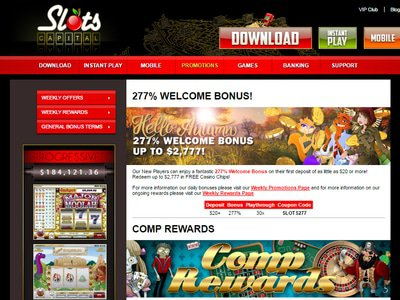 Slots Capital Casino logiciel captures d