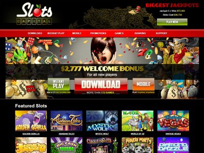 Slots Capital Casino site captures d