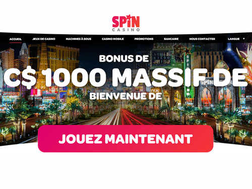 Spin Casino site captures d