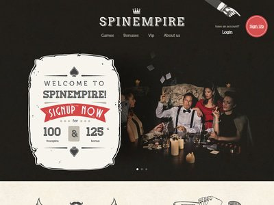 SpinEmpire Casino site captures d