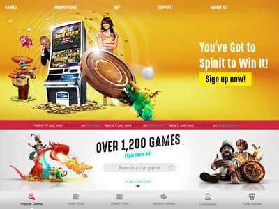 SpinIT Casino site captures d