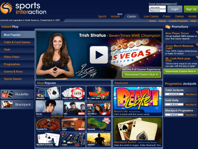 Sports Interaction Casino site captures d