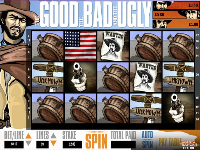 jeux The Good, the Bad, and the Ugly