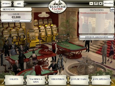 Tradition Casino logiciel captures d