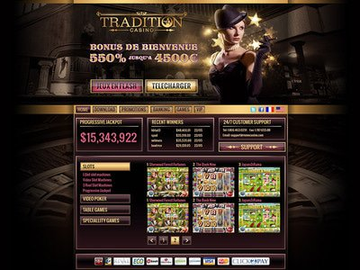 Tradition Casino site captures d