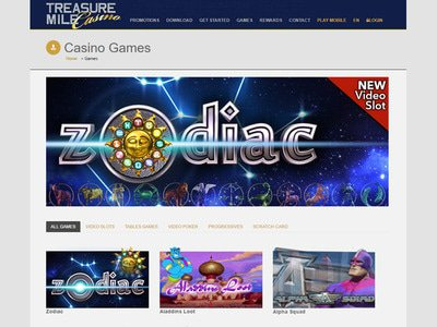 Treasure Mile Casino logiciel captures d