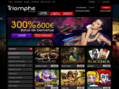 Triomphe Casino site captures d