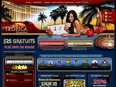 Tropica Casino site captures d