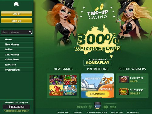 Two Up Casino site captures d