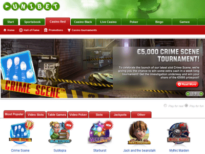 Unibet Casino site captures d