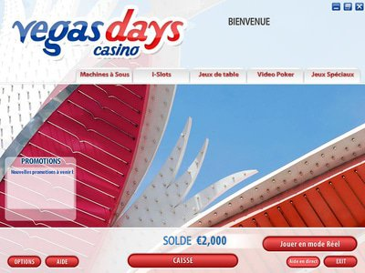 Vegas Days Casino logiciel captures d