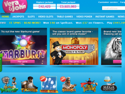 Vera John Casino site captures d