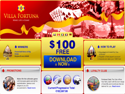 Villa Fortuna Casino site captures d