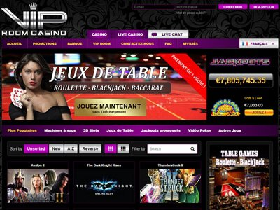 VIP Room Casino site captures d