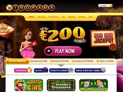 Winorama Casino site captures d