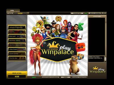 Winpalace Play Casino logiciel captures d